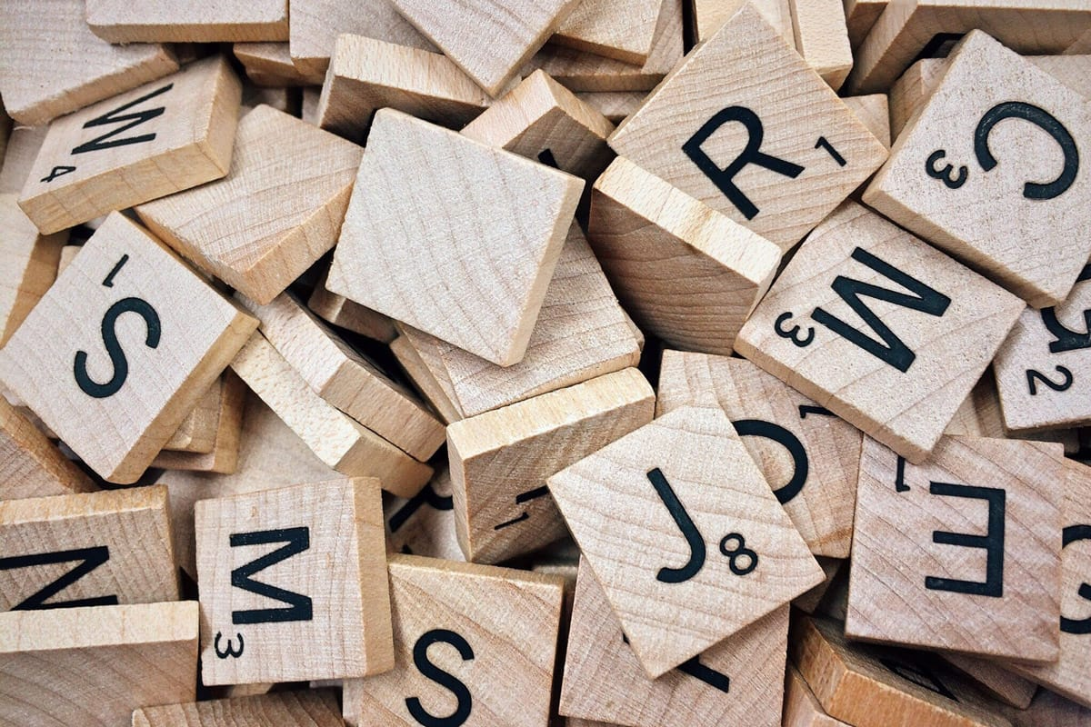 Buchstaben - Wörter in nur einer Sprache